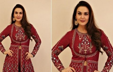 Preity Zinta Wears Anita Dongre
